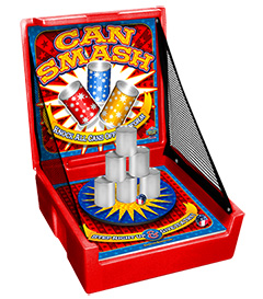 Red Can Smash Carnival Case Game Without Legs