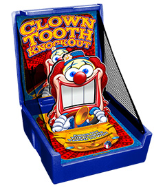 Blue Clown Tooth Knockout Carnival Case Game Without Legs