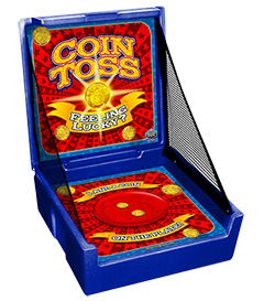 Blue Coin Toss Carnival Case Game Without Legs