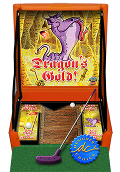 Orange Dragons Gold Golf Carnival Case Game Without Legs