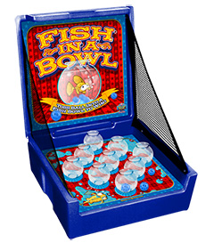 Blue Fish-In-A-Bowl Carnival Case Game Without Legs