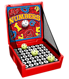 Red Numbers Carnival Case Game Without Legs