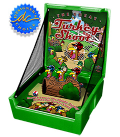 Green Turkey Shoot Carnival Case Game Without Legs