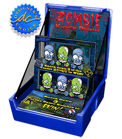 Blue Zombie Head Knockdown Carnival Case Game Without Legs