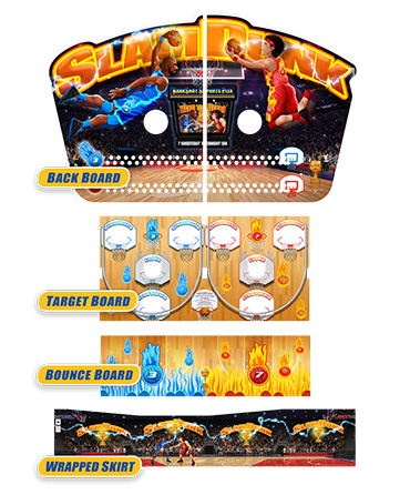 Slam Dunk Bounce A Ball Graphics Package