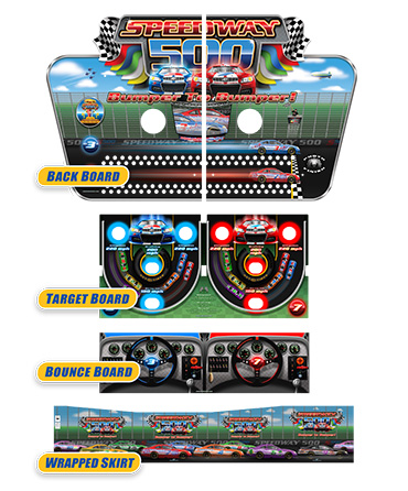Speedway 500 Bounce A Ball Graphics Package